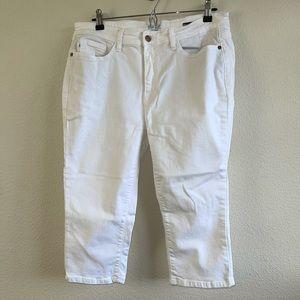 Judy Blue White Capri Jean Denim Pants Plus Size
